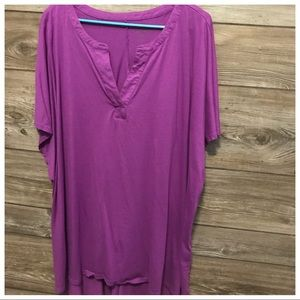 NWOT Woman Within 4X Purple Top